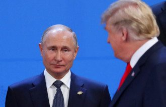 Дональд Трамп и Владимир Путин на саммите G20 в Аргентине