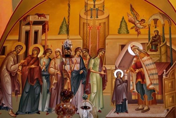 Введение во храм Пресвятой Богородицы. Икона