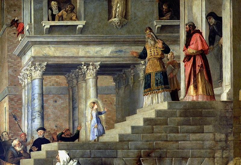 Введение во храм Пресвятой Богородицы. Тициан