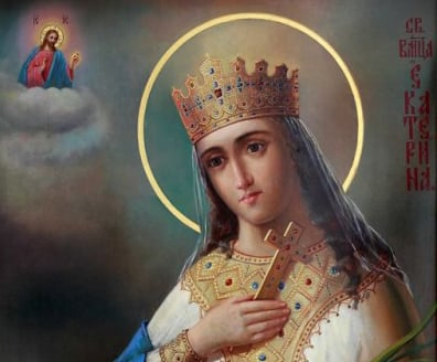 Святая Екатерина. Икона