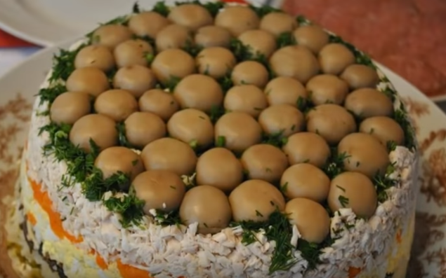 Салат грибная поляна (салат лесная поляна)