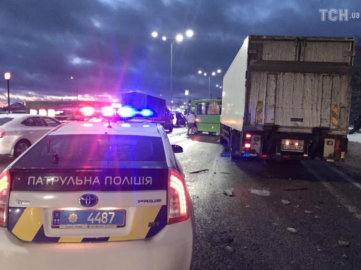 ДТП с маршруткой под Киевом