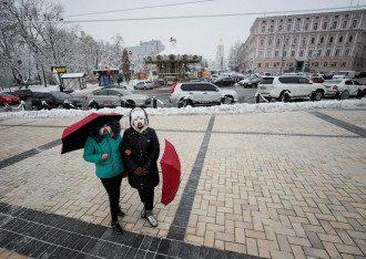 В Укргидрометцентре отметили, что в Киеве 13 января днем ожидается до +2 градусов