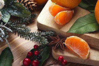 Новый год_еда_мандарины_елка