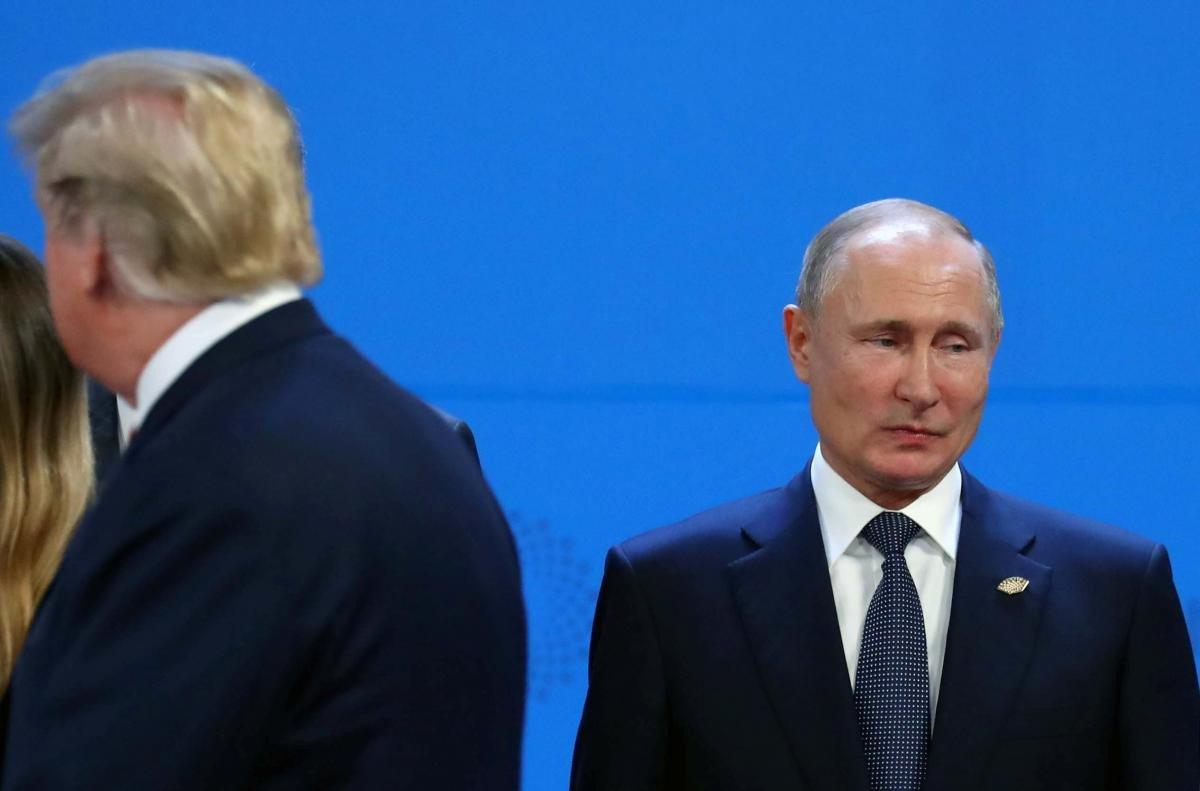 Владимир Путин и Дональд Трамп на саммите