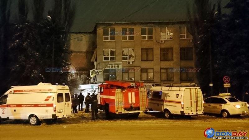 В Новочеркасске из-за обрушения части здания офисного центра никто не погиб, утверждают местные власти