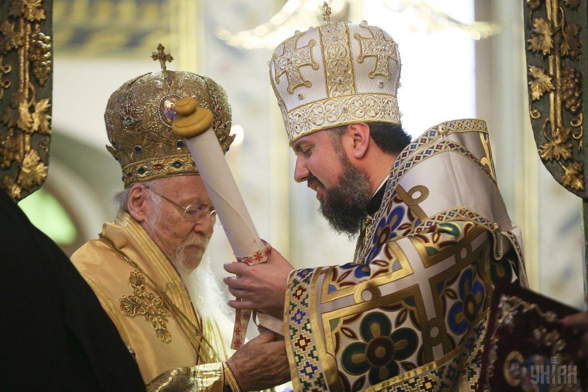 Вселенский патриарх вручил Епифанию томос