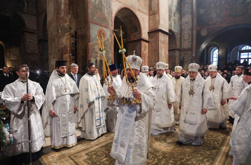 Епифаний на Рождественской литургии