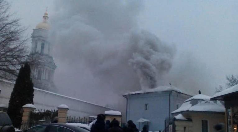 Картинки по запросу Поджог в Киево-Печерской Лавре