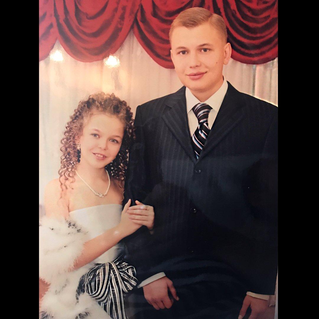 Алина Гросу со старшим сводным братом Романом