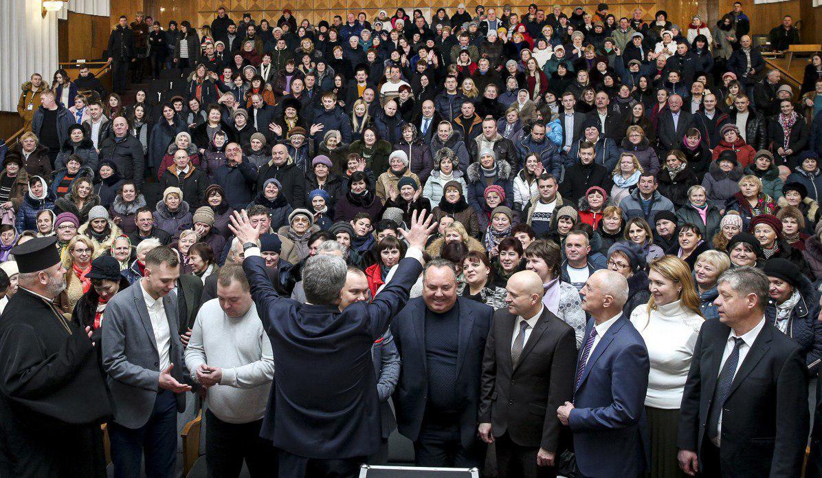 Петр Порошенко на встрече с гражданами на Волыни