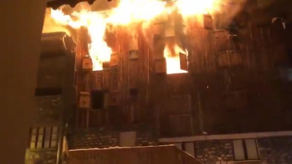 Пожар в Куршавель