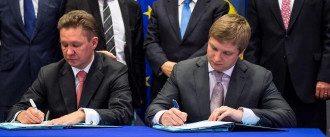 Руководители Газпрома и Нафтогаза Алексей Миллер и Андрей Коболев