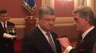 Петро Порошенко і колишній президент України Віктор Ющенко