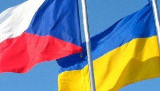 """Флаги Украины и Чехии / """"Укринформ"""""""