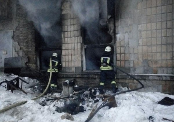В Киеве на радиозаводе произошел пожар