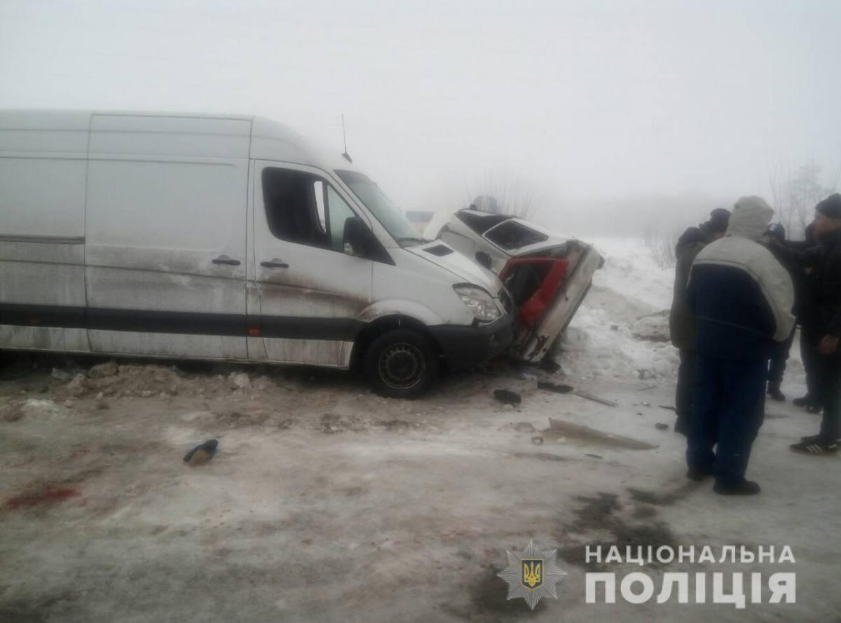 В Харьковской области микроавтобус убил женщину