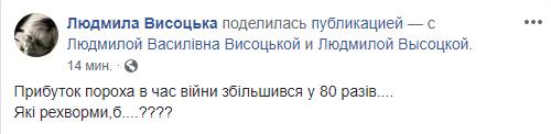/ facebook.com/ Людмила Висоцька