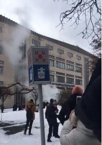 Пожар в корпусе НАУ / скринот из видео
