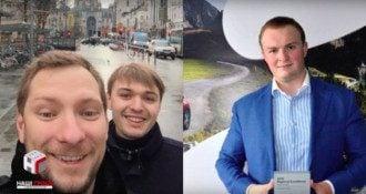 """Компания """"поставщиков"""": Андрей Рогоза, Виталий Жуков и Игорь Гладковский (слева направо) / кадр из видео"""