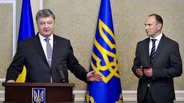 Петр Порошенко и Егор Божко