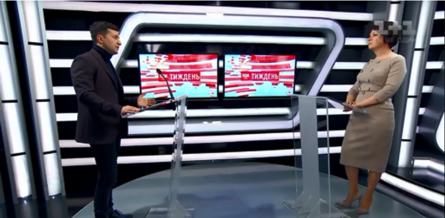 Зеленский дал первое масштабное интервью телеканалу 1+1 в качестве кандидата в президенты