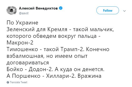 Журналист сообщил, что в Кремле Владимира Зеленского считают Макроном-2