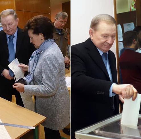 Леонид Кучма голосовал на выборах 2019 вместе с супругой