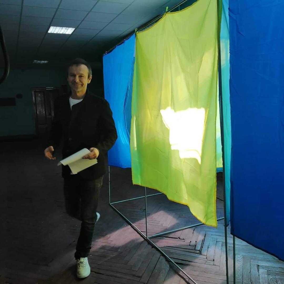 Святослав Вакарчук проголосовал на выборах президента Украины