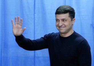 Владимир Зеленский проголосовал на выборах 2019