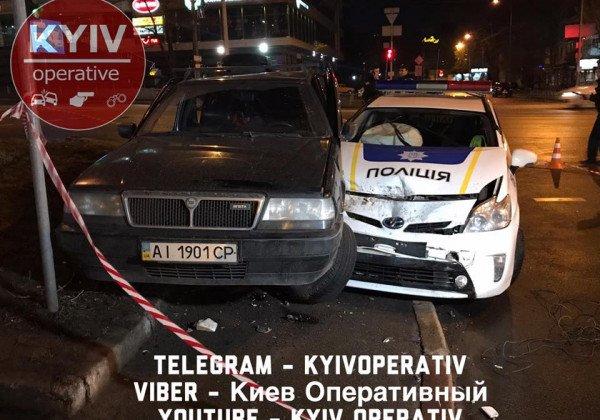 В Киеве копы гонялись за выпившим 16-летним парнем на иномарке