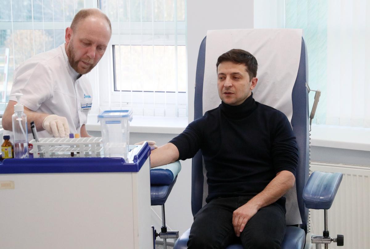 Владимир Зеленский сдал анализы