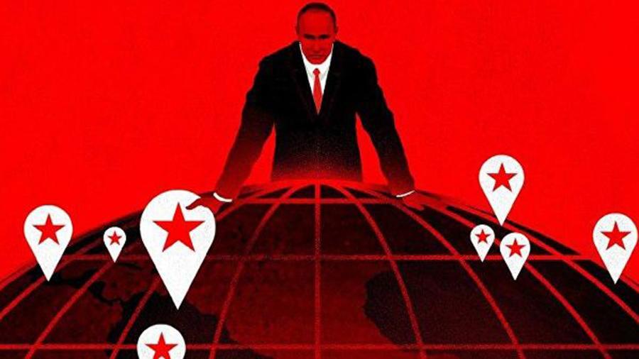 Кроваво-красный Путин пометил воны своего влияния