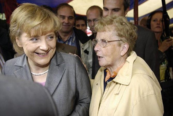 Меркель с мамой