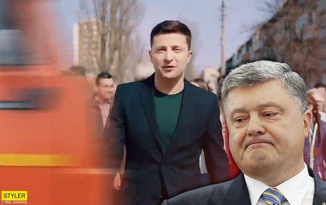 Зеленский-Порошенко и грузовик/фура/камаз