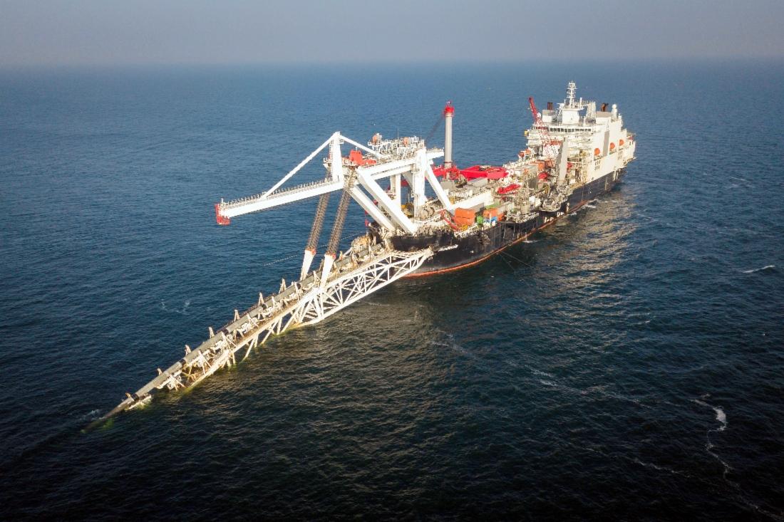 Укладка газопровода Северный поток-2 в территориальных водах Германии