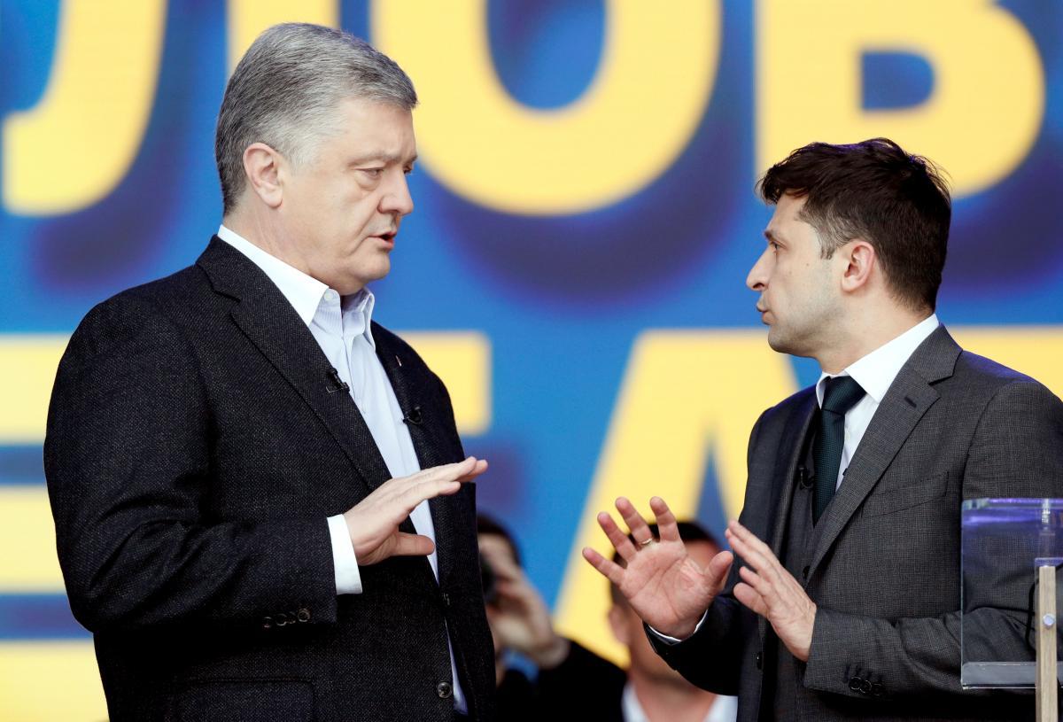 Порошенко и Зеленский на дебатах