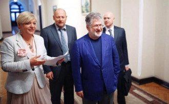 Экс-глава Нацбанка Валерия Гонтарева и Игорь Коломойский