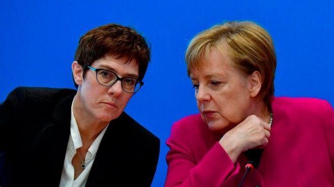 Меркель с преемницей