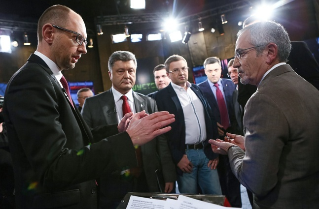 Яценю, Шустер и Порошенко