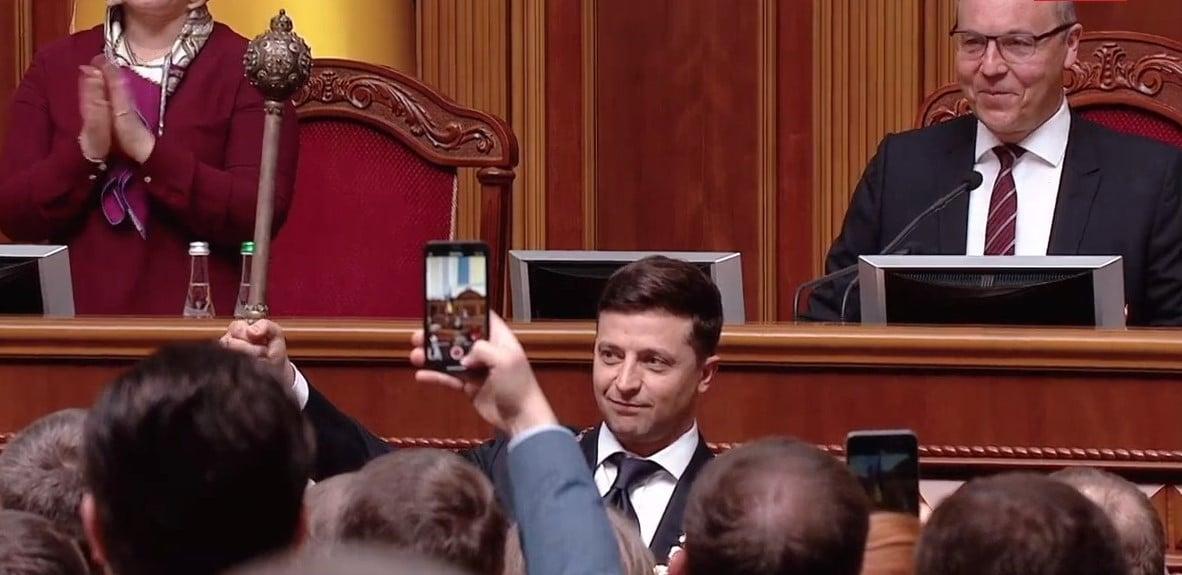 Инаугурация Зеленского — Владимир Зеленский сказал, что распускает Верховную Раду VIII созыва