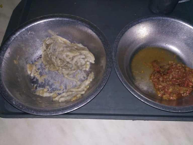 Фото питания в Одесской колонии, распространившееся в социальных сетях