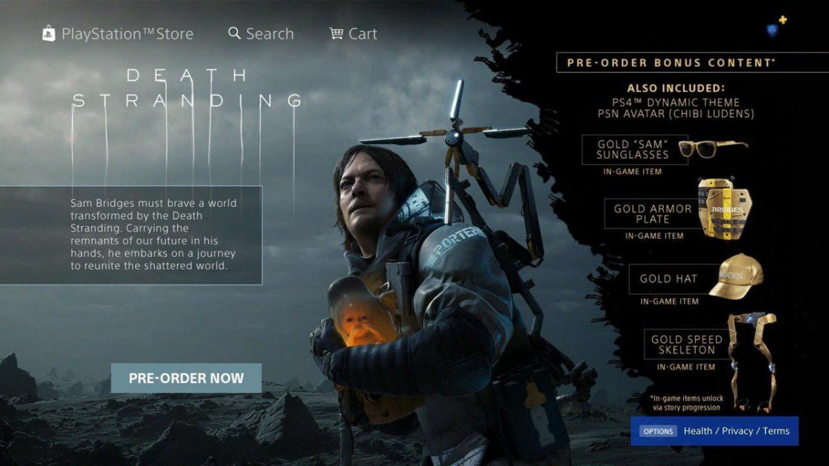 Страница игры в магазине PS