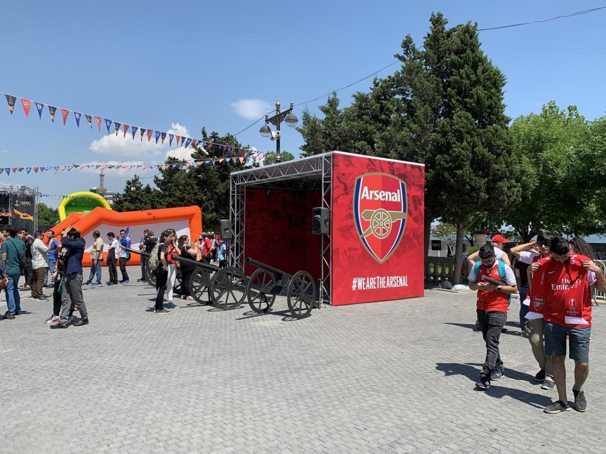 Фан-зона Арсенала возле Олимпийского стадиона
