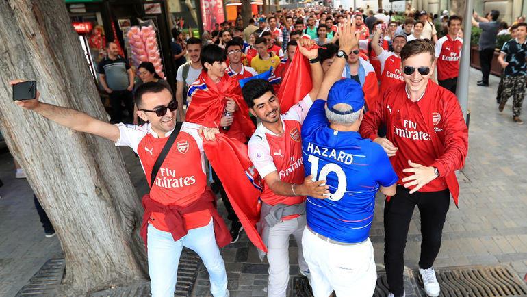 Болельщики Арсенала в Баку