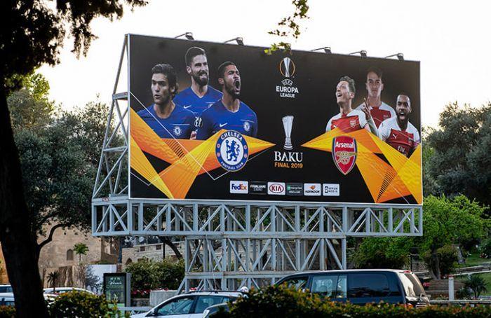 По всему Баку установлены баннеры посвященные финалу