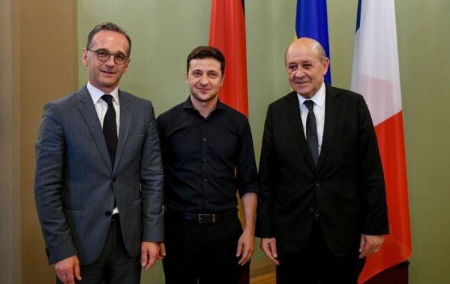 Зеленский и главы МИД Германии и Франции