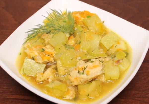 Блюда из кабачков — Достаточно быстро можно приготовить кабачки по-флотски