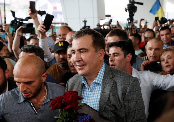 Михеил Саакашвили прилетел в Украину