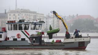 Затонул катер в Будапеште